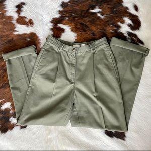 Liz Claiborne Green Straight Leg Trouser